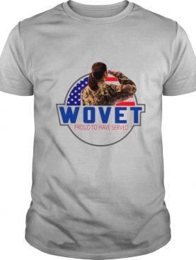 Wovet Proud To Have Served American Flag shirt