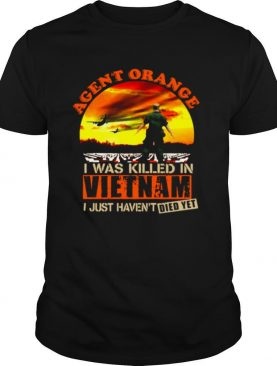 Agent Orange I Was Killed In Vietnam Veteran I Just Haven't Died Yet shirt