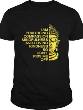 Buda I Am Practicing Compassion Mindfulness And Loving Kindness So Don't Piss Me Off shirt
