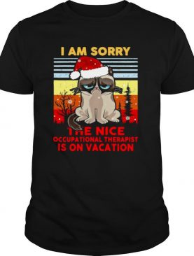 Cat Santa I Am Sorry The Nice Occupational Therapist Is On Vacation Ugly Christmas shirt