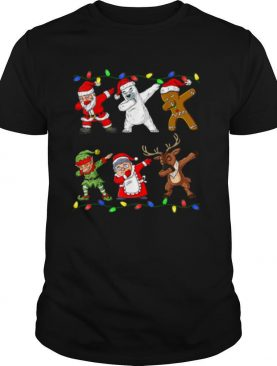 Christmas Dabbing Santa Elf And Friends Boys Kids Dab Xmas shirt