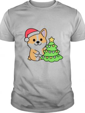 Corgi and Christmas Tree shirt