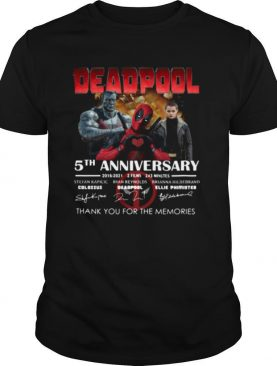 Deadpool 5th anniversary thank you for the memories signatures shirt