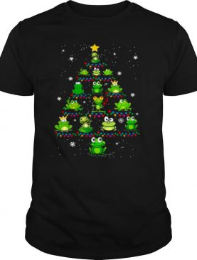 Frog Merry Christmas Tree shirt
