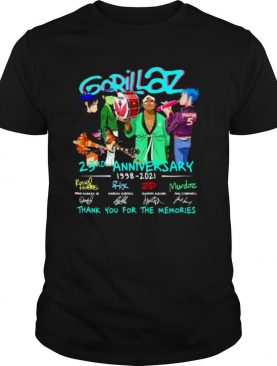 Gorillaz 23rd Anniversary 1998 2021 Thank You For The Memories Signature shirt