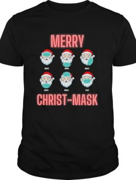 Merry Christmask Six Santa With Face Mask Covid shirt