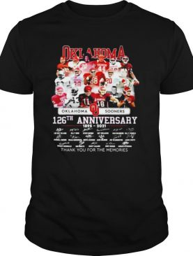 Oklahoma Sooners 126th anniversary 1895 2021 thank you for the memories shirt
