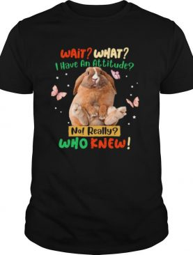 Rabbit Butterfly wait what I have an attitude no really who knew shirt