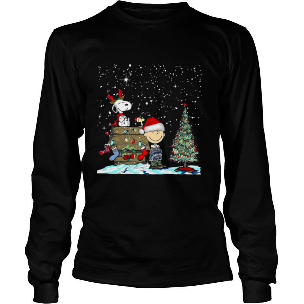Reindeer Snoopy Santa Charlie Brown and Woodstock Christmas shirt