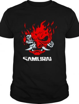 Samurai japanese gaming 2077 art game style shirt