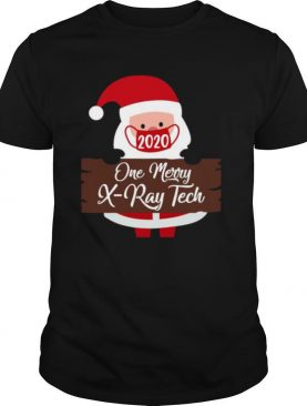 Santa Claus Face Mask 2020 One Merry XRay Tech Christmas shirt
