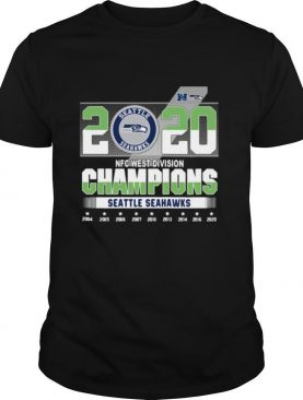 Seattle Seahawks 2020 NFC west division Champions 2004 2020 shirt