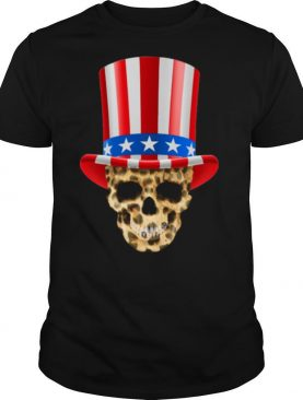 Skull Uncle Sam Hat American Flag 4th Of July shirt