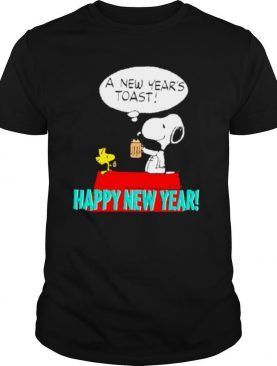 Snoopy and woodstock a new year's toast happy new year shirt