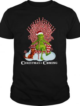 The Grinch And Dog Christmas Is Coming shirt