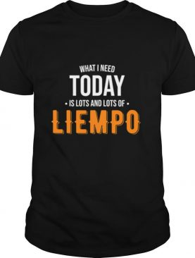 What I Need Today Is Lots Of Liempo shirt