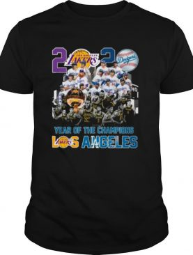 2020 Year Of The Champions La Lakers And La Dodgers shirt