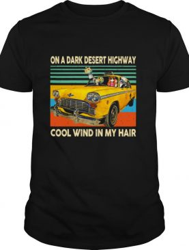 Elephant and Hippie Girl on a dark desert highway cool wind in my hair vintage shirt