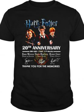 Harry Potter 20th Anniversary 2001 2021 Thank You For The Memories Signature shirt