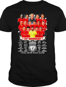 Liverpool 129th Anniversary 1982 2021 You'll Never Walk Alone Signatures shirt