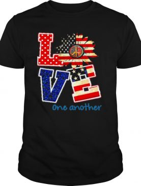 Love american flag one another shirt