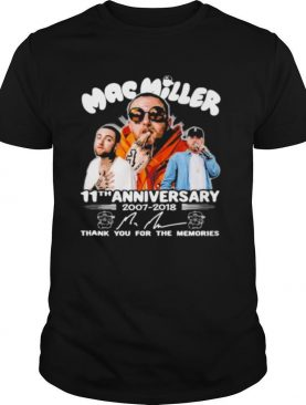 Mac miller 11th anniversary 1007 1018 thank you for the memories shirt