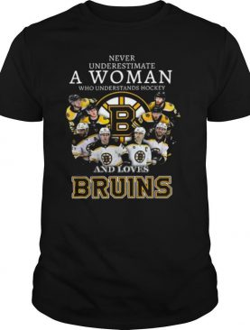 Never Underestimate A Woman Who Understands Hockey And Love Boston Bruins shirt