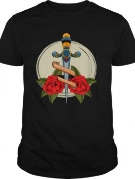 Old School Badass Traditional Tattoo Roses and Sword shirt