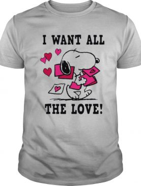 Peanuts Snoopy All the Love Valentines shirt