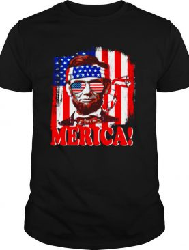 American Flag With Merica shirt
