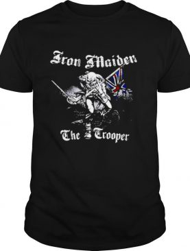 Iron Maiden 'Sketched Trooper' Flag shirt