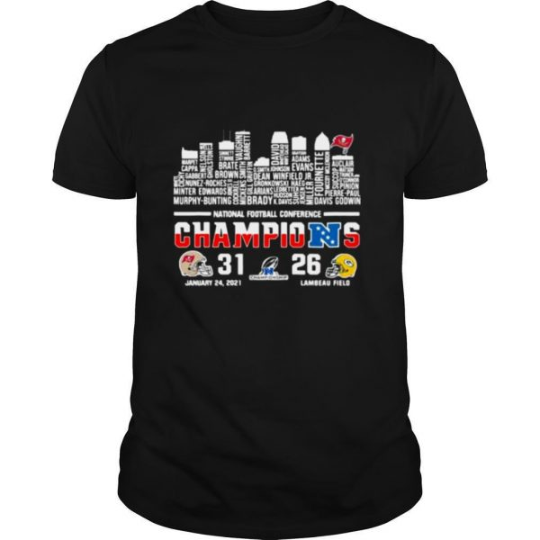 National Football Conference Champions Tampa Bay Buccaneers And Green Bay Packers Flag shirt