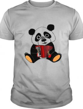 Smilemoreteesa Funny Panda Bear Playing Accordion shirt