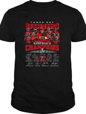 The Tampa Bay Buccaneers Team Football Players With Super Bowl Lv Champions 2021 Signatures shirt