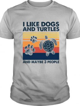 Vintage I Like Dogs And Turtles And Maybe 3 People tshirt