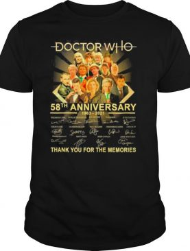 58th Anniversary 1963 2021 The Doctor Who Movie Characters Signatures Thank You For The Memories shirt