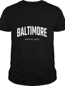 Baltimore Maryland MD vintage state Athletic style shirt
