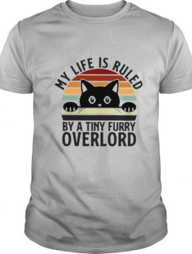 Black Cat My Life Is Ruled By A Tiny Furry Overlord Vintage shirt