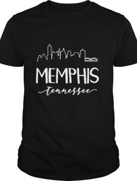 Downtown Memphis Tennessee City Skyline Calligraphy Shirt