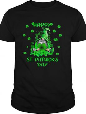 Green Gnome Happy St Patrick's Day Shirt