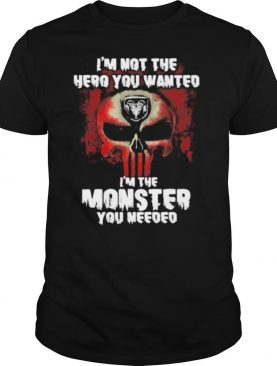 I'm Not The Hero You Wanted I'm The Monster You Needed Punisher With Logo Ram Trucks Shirt