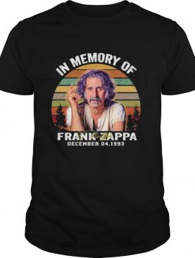 In Memory Of Frank Zappa December 04 1993 Signature Vintage Shirt