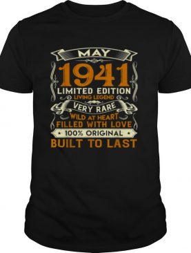 May 1941 Vintage 80 Years Old 80th Birthday Family shirt