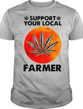 Native American Support Your Local Farmer With Red Moon shirt