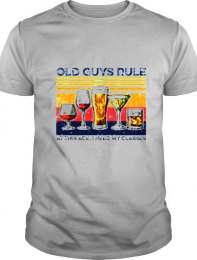 Old guys rule at this ate I need my glasses vintage shirt