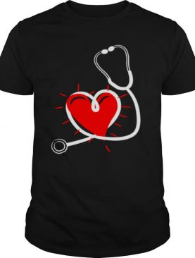 Stethoscope with a heart for nurses doctors carers shirt