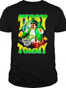Tipsy Tommy just a lil avocado tequila Tom Brady dunk St.Patrick's day shirt