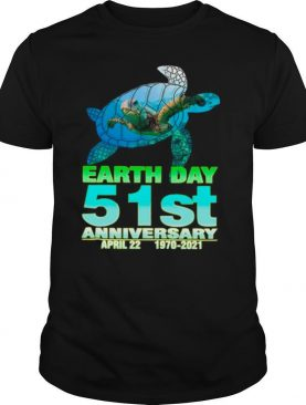 Turtle With Earth Day 51st Anniversary April 22 1970 2021 shirt