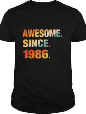 Gift For 35 Years Old Awesome Since 1986 35th Birthday Retro shirt