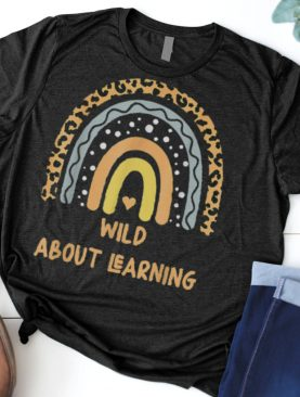 Wild About Learning Leopard Teacher Student Back To School Shirt
